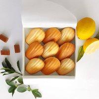 French Cakes Gift Box: Mix Lemon And Caramel