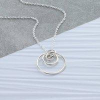 Triple Silver Hoop Necklace, Silver