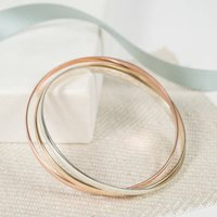 Solid Gold Russian Wedding Bangle, Gold