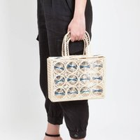 Cage Toquilla Straw Canasta Handbag