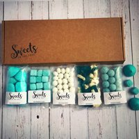 Blue Velvet Letterbox Sweets Gift Box, Blue