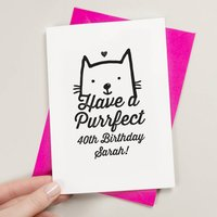 A Purrfect Birthday Card For Cat Lovers