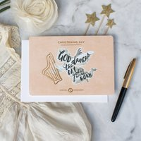 God Danced The Day You Were Born Christening Card