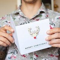 Personalised Rudolf Reindeer Christmas Card
