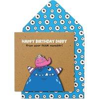 Handmade Happy Birthday Daddy From Daughter Card