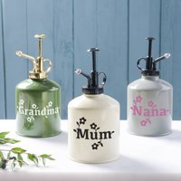 Personalised Plant Water Mister, Cream/Green/Grey