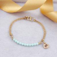 Bead Bracelet Made With Swarovski Crystals, Silver/Gold/Rose