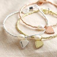 Personalised Dainty Seed Bead And Pearl Bracelet