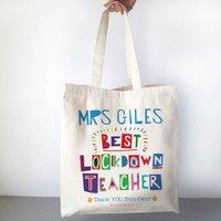 Personalised Best Lockdown Teacher Bag