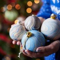 Marbled Ceramic Bauble