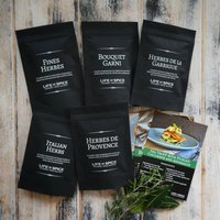 Gourmet Herbs Collection With Recipe Cards