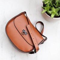 Leather Cross Body Handbag, Tan