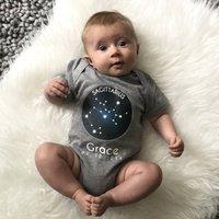 Star Sign Personalised Babygrow