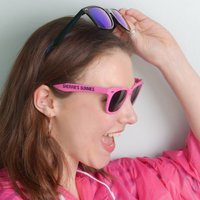 Personalised Sunglasses, Pink/Black/Lime Green