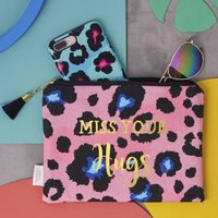 Animal Print Miss Your Hugs Lockdown Pouch