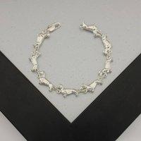 Dachshund Bracelet In Sterling Silver, Silver