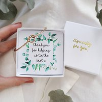 Infinity Knot Bangle Botanical Bridesmaid Gift