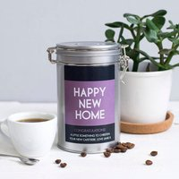 New Home Coffee Gift In Tin, Purple/Red/Green