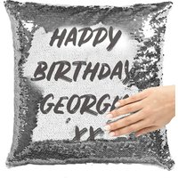 Personalised Bold Word Sequin Cushion Cover