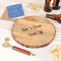Personalised Cheese And Beer Night In Gift Set