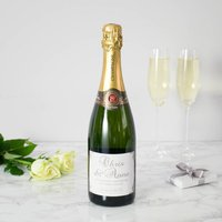 Personalised Silver 25th Wedding Anniversary Champagne