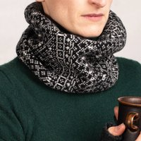 Soft Knitted Fair Isle Snood Mens