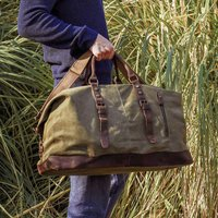 Canvas Classic Holdall Personalised Bag, Green