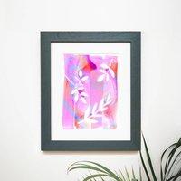 Pink Leafy Print
