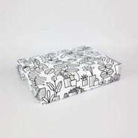 Monochrome Pots Gift Wrap: Set Of Three Sheets