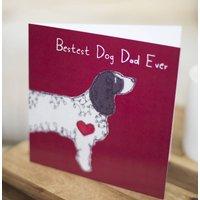 Springer Spaniel Dog Dad Father's Day Card