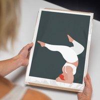 Forearm Stand Yoga Art Print