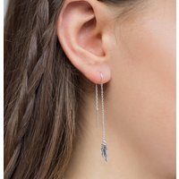 Lightning Bolt Drop Earring, Silver/Gold/Rose Gold