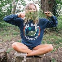 Be More Herbivore Women's Slogan Sweatshirt
