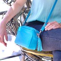 Personalised Elsa Leather Crossbody Bag
