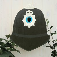 Personalised Police Helmet Bird Box