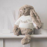 Personalised Beige Bashful Bunny Soft Toy
