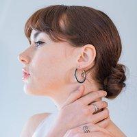 Silver Hoop Earrings, Silver