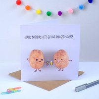 Happy Birthday Lets Get Mashed Greeting Card