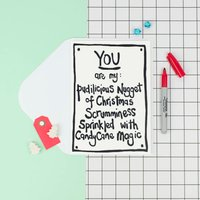 'Pudilicious Nugget' Funny Christmas Card