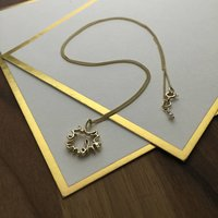 'Love You More' Necklace In Solid Gold, Gold