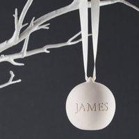 Personalised Engraved Ceramic Bauble