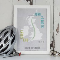 Personalised Land's End To John O' Groats Map Print