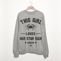 Cancer Women's Zodiac Star Sign Sweatshirt