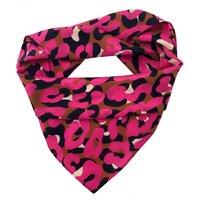 Hot Pink Leopard Print Silk Scarf