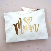 Love Heart Mum Make Up Bag