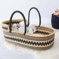 Huntuma: Black Pattern Moses Basket