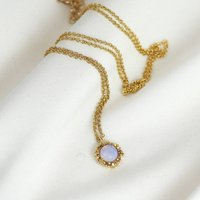 Textured Opal Necklace