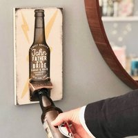 Personalised Father Of The Bride Beer Bottle Opener