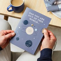 Dad Is Out Of This World Reveal Messages Card