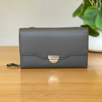 Clutch Bag With Strap In Grey